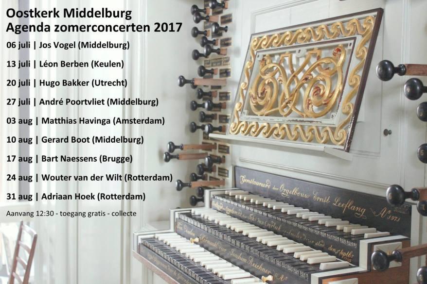 Oostkerk orgelconcerten 2017
