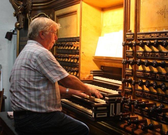 Bram Beekman, vaste organist van de Oostkerk