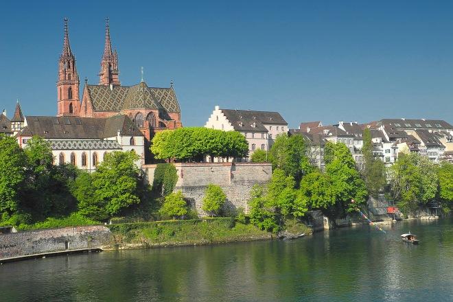 De Münster in Basel, waar Felix Pachlatko vele jaren organist is geweest.