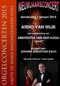 Affiche Nieuwjaarsconcert 2015 Goes